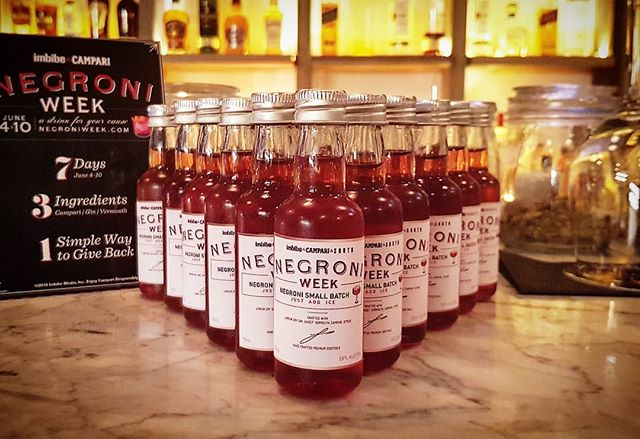 """Just Add Ice""! Negronis to go for #negroniweek .  @campariofficial @camparinigeria @imbibe @negroniweek"