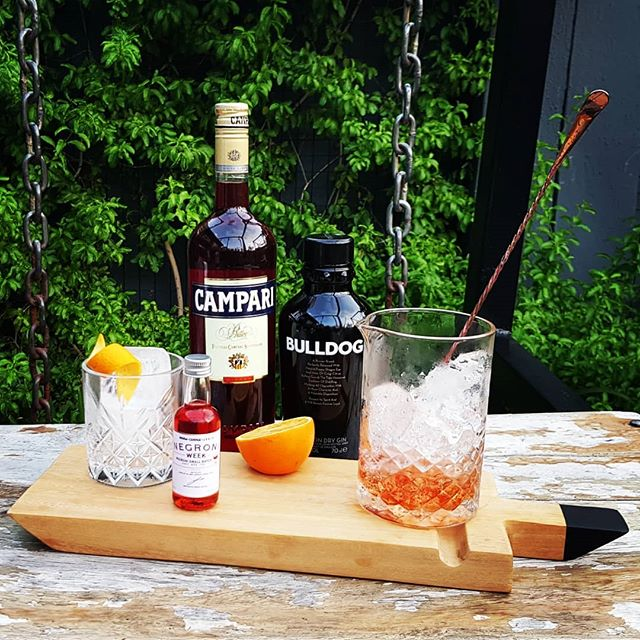 """JUST ADD ICE""! Classic Negronis to go for Negroni Week! #negroniweek"
