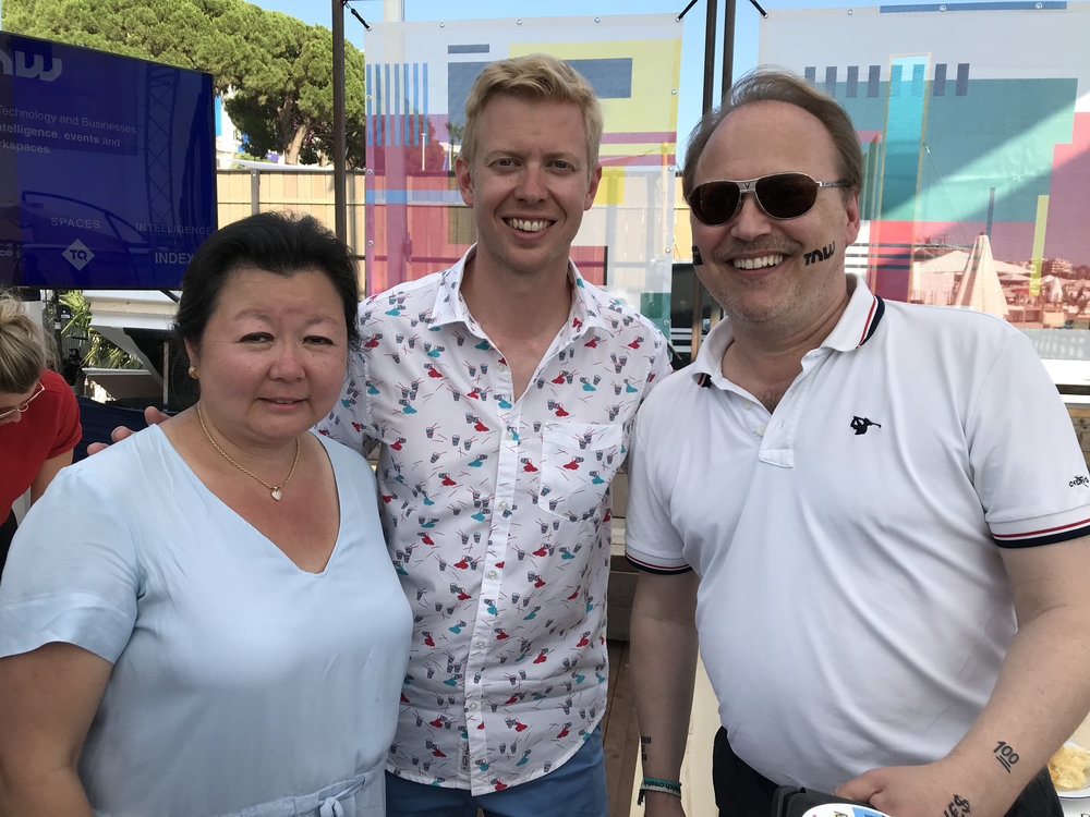 CEO Steve Huffman with CEO Nathalie Mindus and CTO Christopher Mindus from the Mindus company.jpg