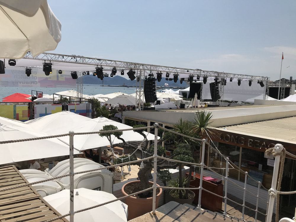 The TNW event location on beach of Cannes la Croisette