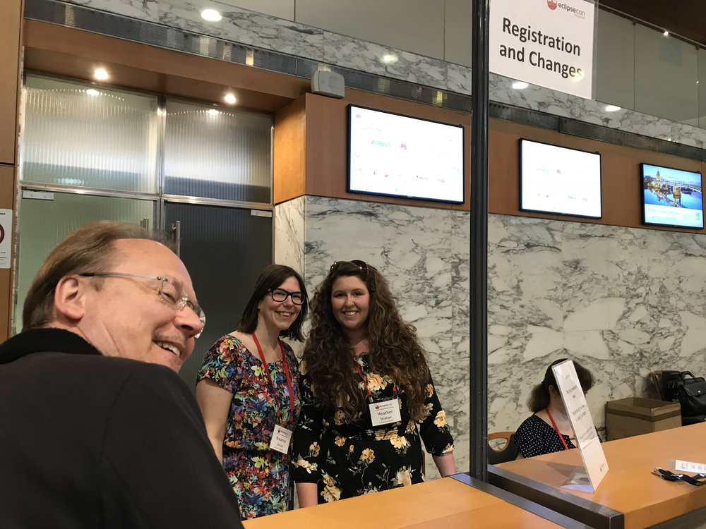 EclipseCon France 2018 registration with Roxanne Joncas and Heather Shahan