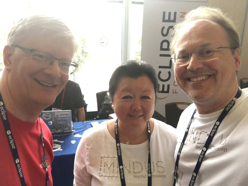 IBM's Kevin Sutter with Nathalie Mindus and Christopher Mindus at EclipseCon
