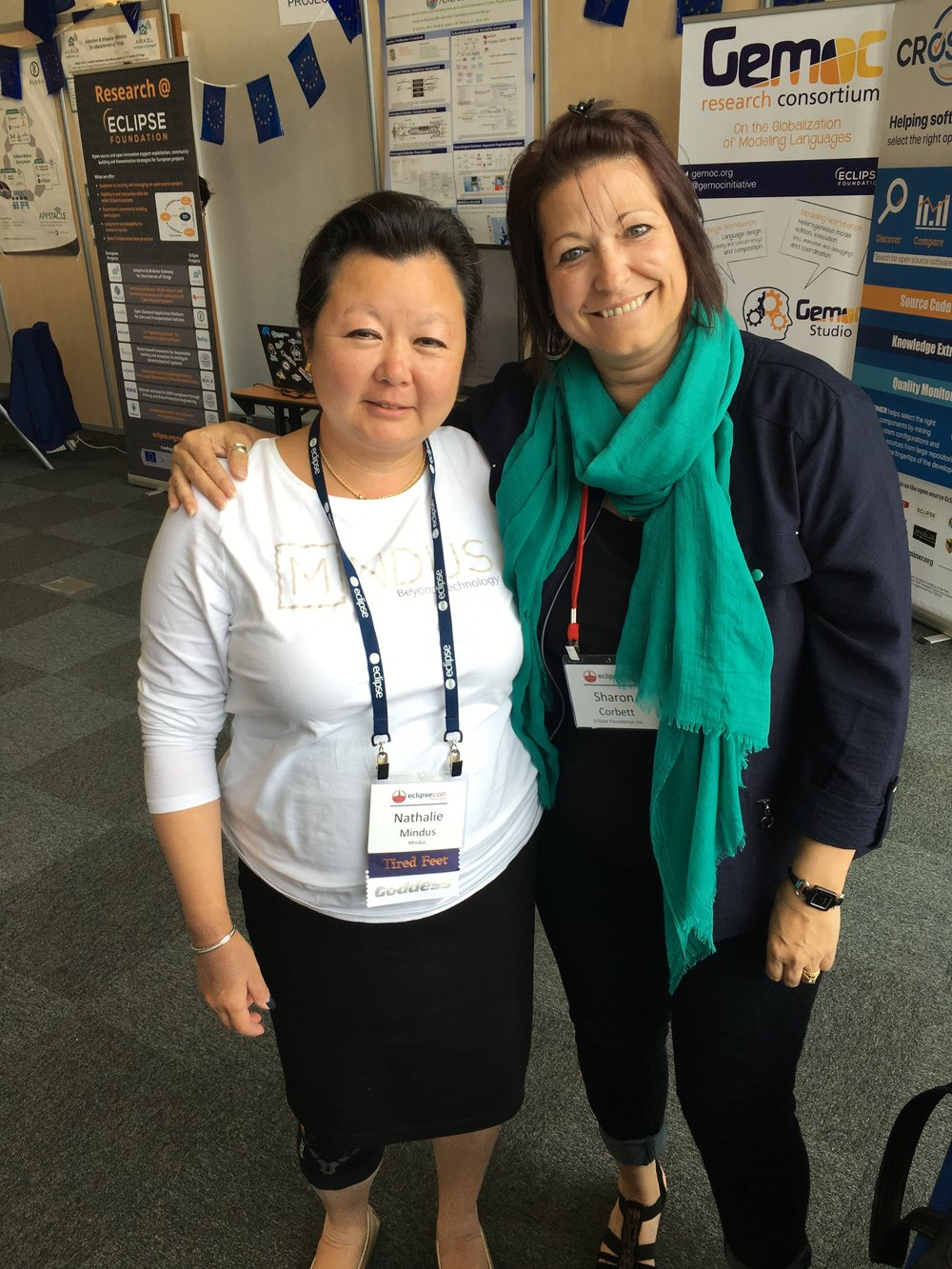 Nathalie Mindus with EclipseCon's Sharon Corbett