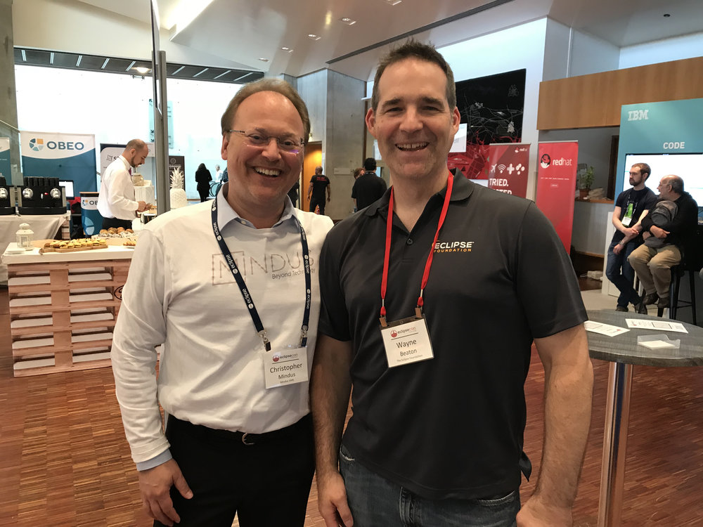 Christopher Mindus with EclipseCon's Wayne Beaton