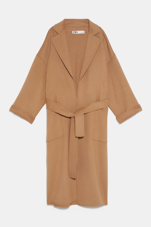 Coat with Pockets and Belt, Zara