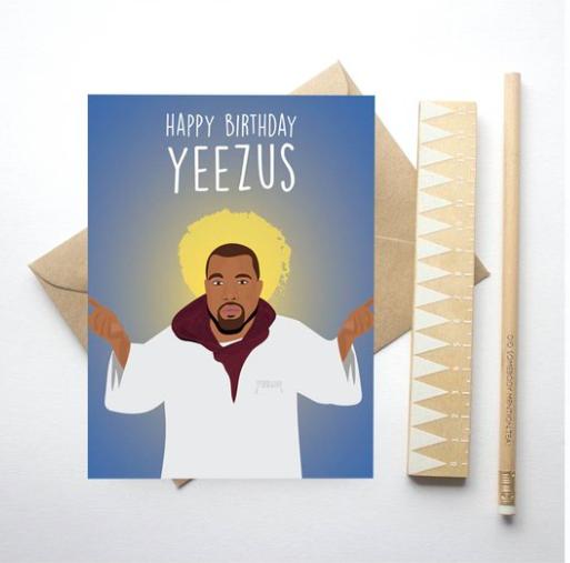 Rumble Cards Kanye West Rapper Happy Birthday Yeezus Celebration Card