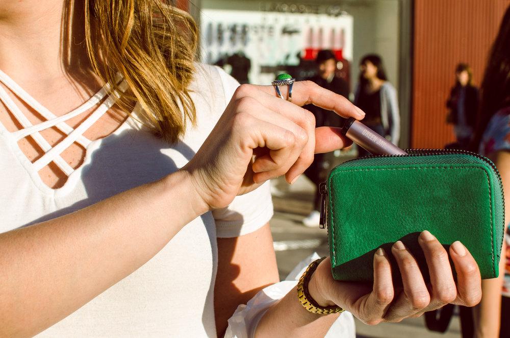 Green Jay Single  in pouch