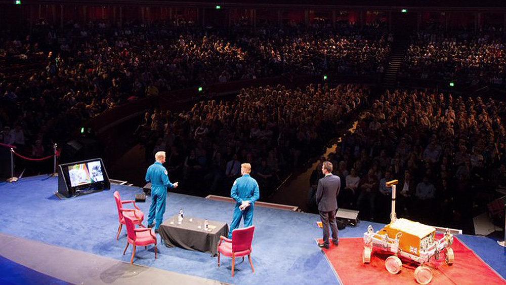 - Event host, with astronauts Tim Peake and Tim Kopra
