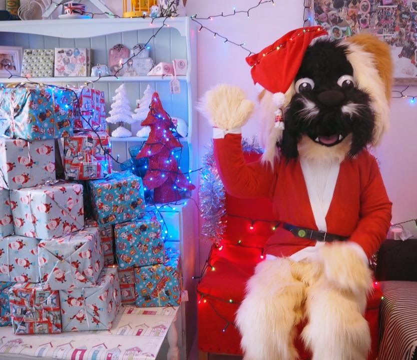 Bertie makes a very handsome Santa Paws, don't you agree?