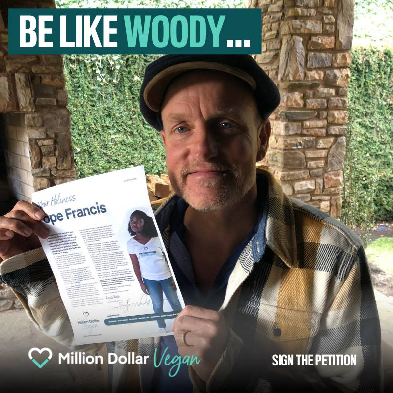 woody harrelson backs million dollar vegan