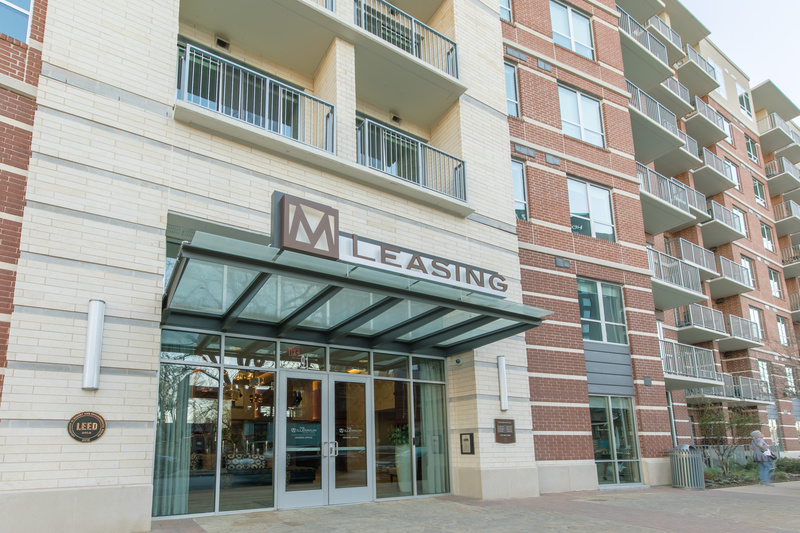 This is the main entrance to the Locale furnished apartments at Rainey Street (within the Millennium Rainey)