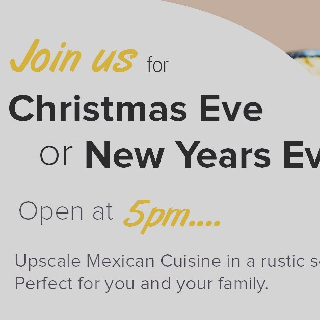 Open Christmas Eve and Open New Years Eve! #mesagrapevine