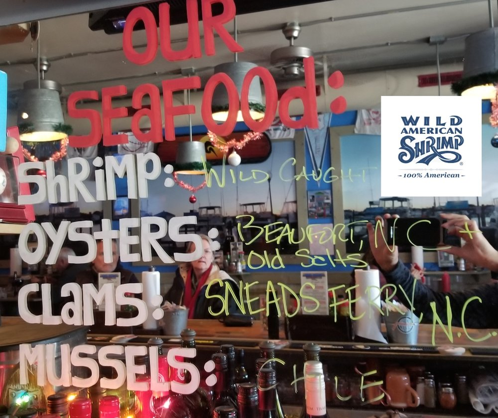 While supplies will vary from day to day, all Shuckin' Shack Oyster Bars attempt to source locally caught seafood whenever the season and local catch allows.