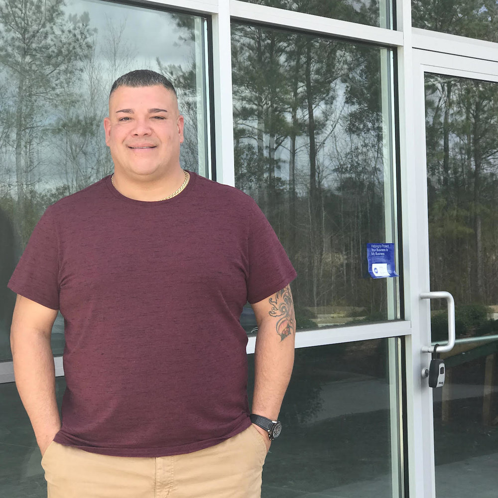 "Latest franchisee for ""The Shack"", Ray Rubin, stands in front of the vacant space in Jacksonville, NC he hopes to turn into the next Shuckin' Shack Oyster Bar & Sports Pub!"