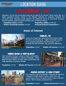 Columbus Locations Guide - Available Upon Request!
