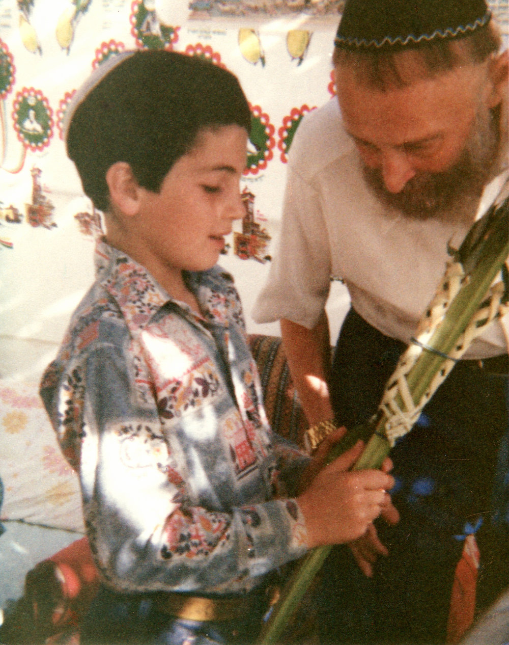 Figure 15 - Sukkot in Jerusalem with Rabbi Moshe Ben Meir, September 1977