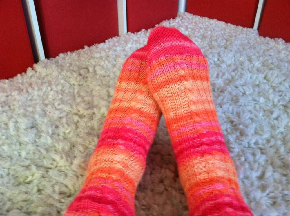 The gift of hand-knitted socks!