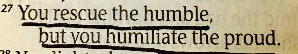 Psalm 18:27 — Crystal Olp