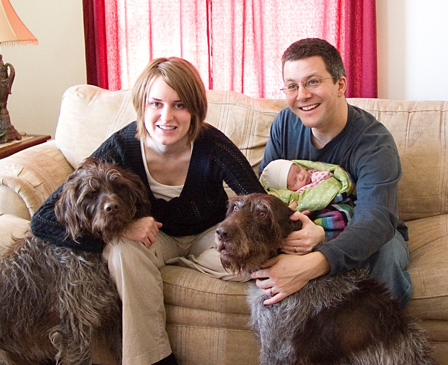 My family, not long after we welcomed our first child.