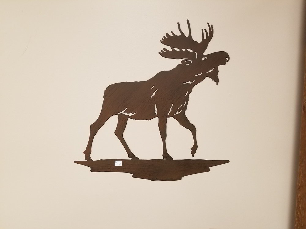 Moose Metal Wall Art