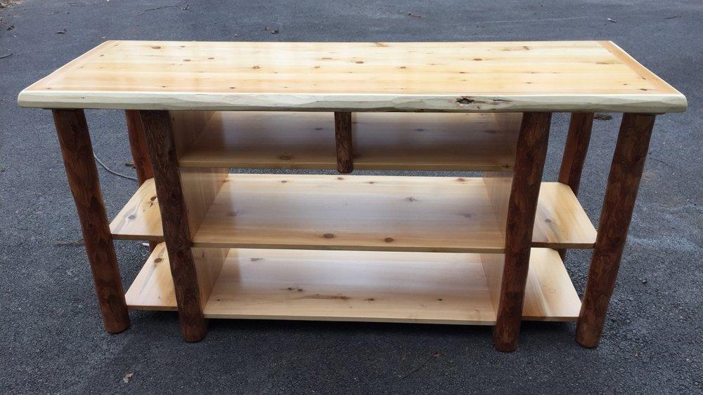 Etonnant White Cedar Open TV Stand