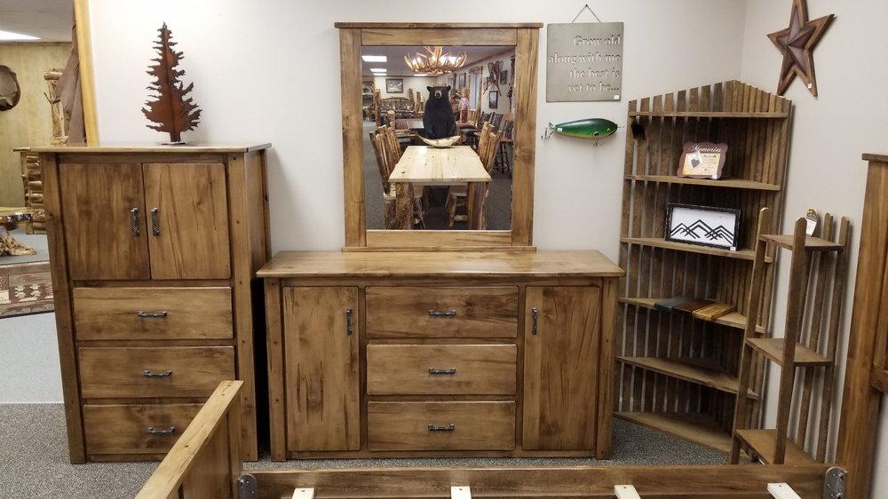 Maple 2 Door 3 Drawer Dresser Ez Mountain Rustic Furniture