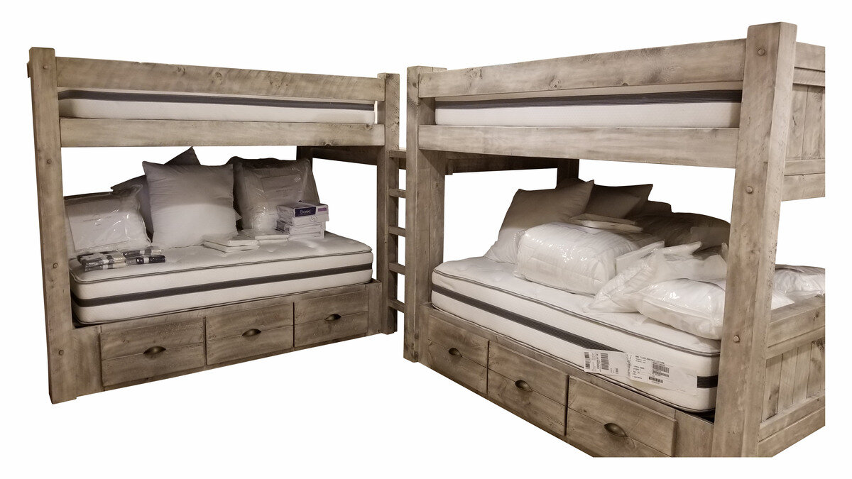 Custom Timber Frame Bunk Bed Ez Mountain Rustic Furniture