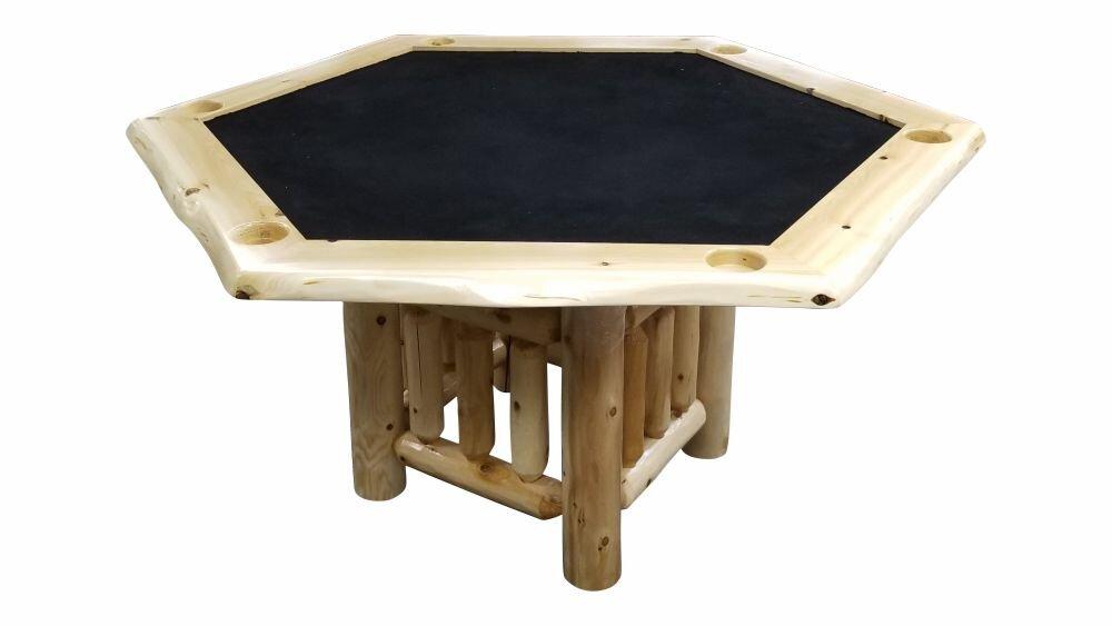 Superieur White Cedar Poker Table