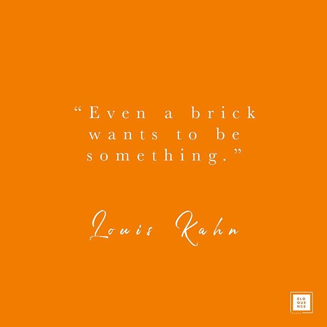 Even a brick wants to be something. ✨ I specialise in construction because of my love of buildings. I love seeing concept designs come to life. I studied architecture at university and then worked for a leading international contractor for six years and then a design and build consultant before setting up Eloquence Works in 2017. ✨ Over the years, I've worked to help create offices, banks, retail units, hotels and police and fire stations and specialise in helping architects, contractors, engineers and property consultants win more work and bring more buildings to life. ✨ #louiskahn #architecturequotes #kentbuilder #contractorsofinsta #kentarchitecture #designandbuild #architectureinspo #smallbizuk #bidding #bidwriter #tenderdesign #proposalmanagement #strategicmarketing