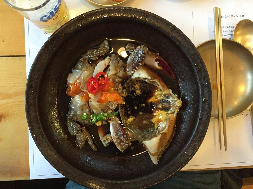 Tenéis que probar el Cangrejo Azul del Bok Jung restaurant de Seoul, South Korea. ¡Como darle un bocado al mar!