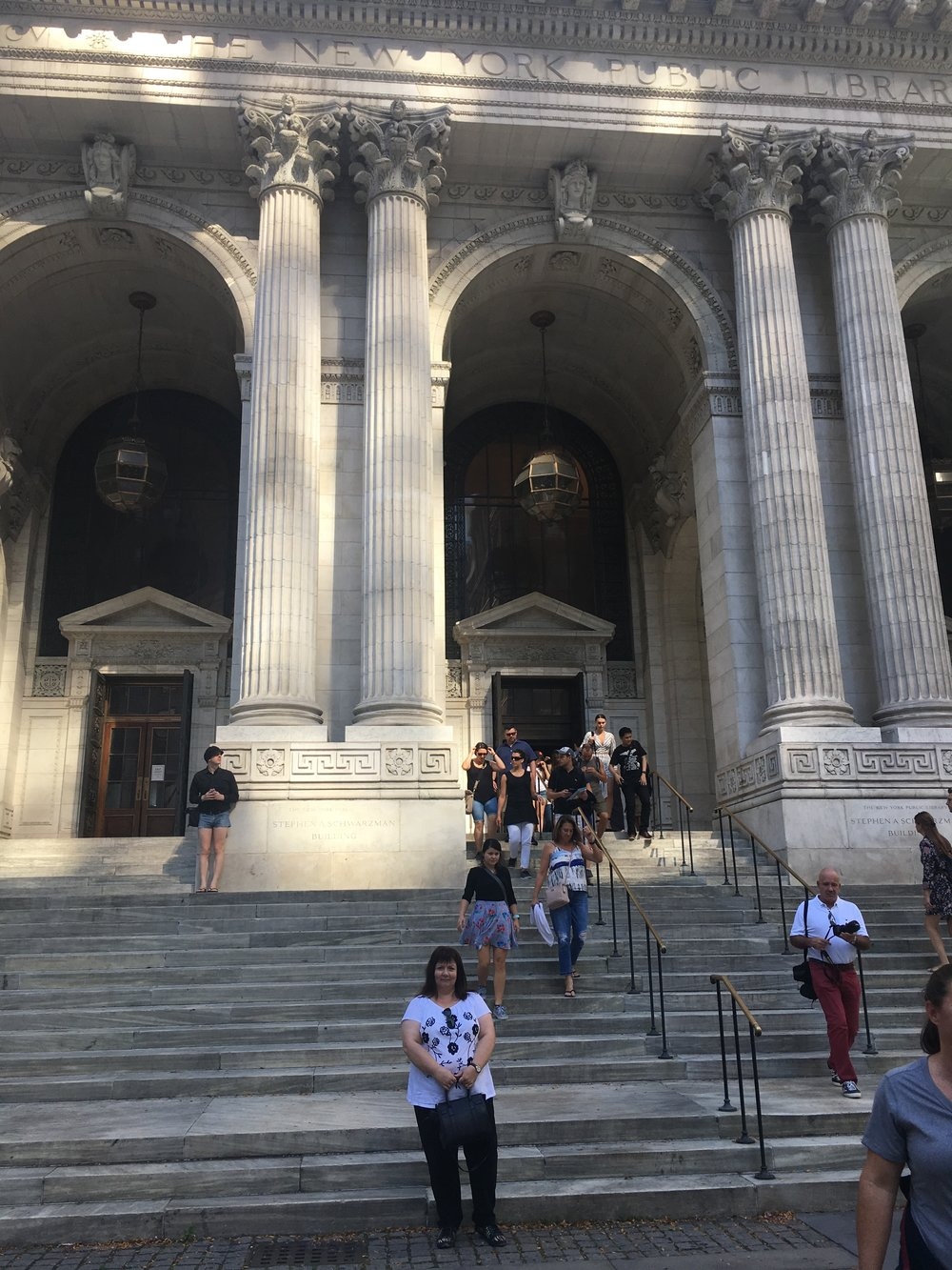 Outside the New York Public Library - where I would write my next book if I lived in NYC.