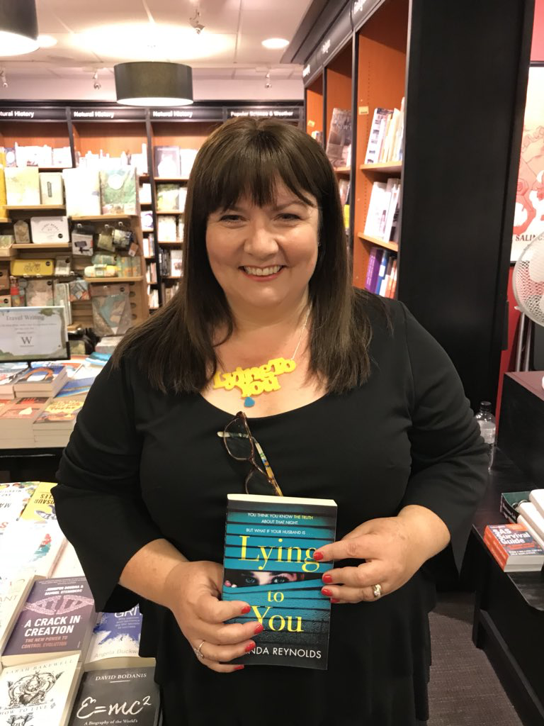 The launch of LYING TO YOU at Waterstones in Cheltenham