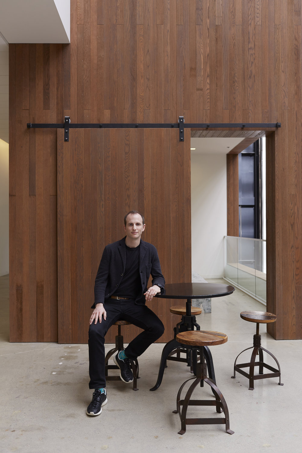 Airbnb Co-Founder Joe Gebbia, photographed at Airbnb HQ in San Francisco, CA for Offscreen Magazine.