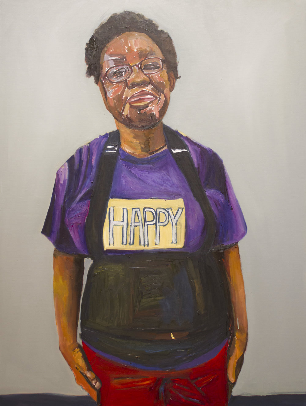 """Happy Renee"" Painting by Beverly Mciver, photo by libby o'daniel"