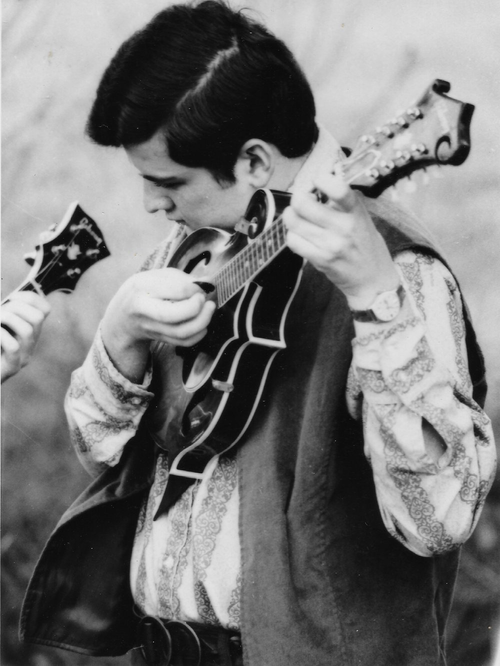 Tony Williamson and his mandolin in 1972.
