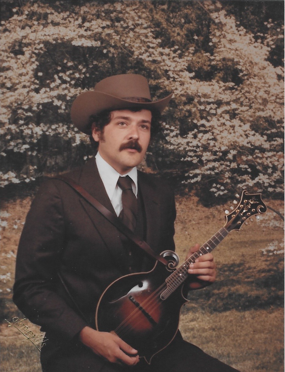 Tony Williamson pictured with his mandolin.