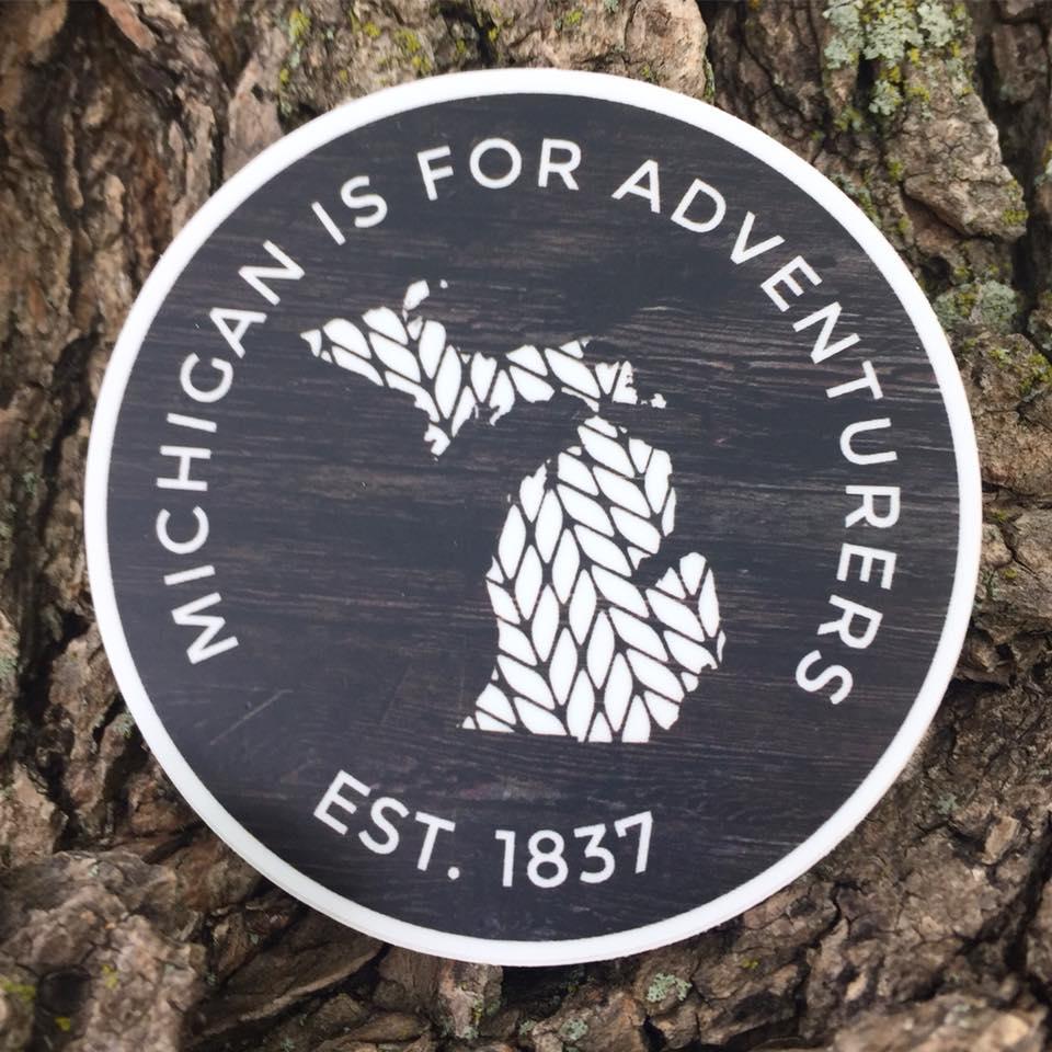Michigan is for Adventurers, Michigan Established 1837, Explore, Adventure, Mitten love, Mitten made, Car Decal, Decal, Vinyl Sticker
