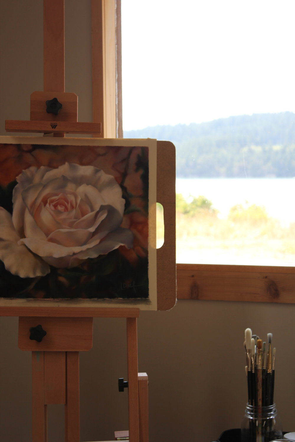 l dief rose oil painting at plum nelli