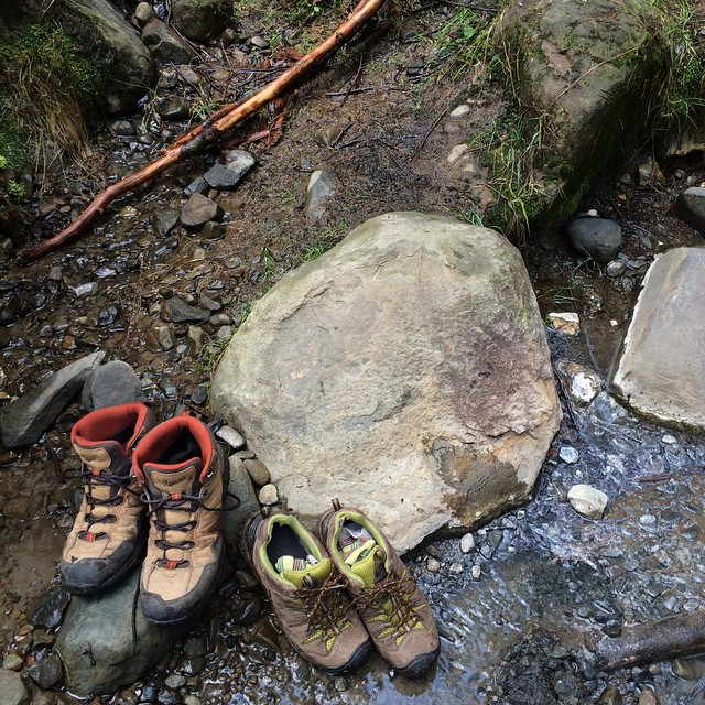 hiking boots and rocks in pacific northwest nordland.jpg