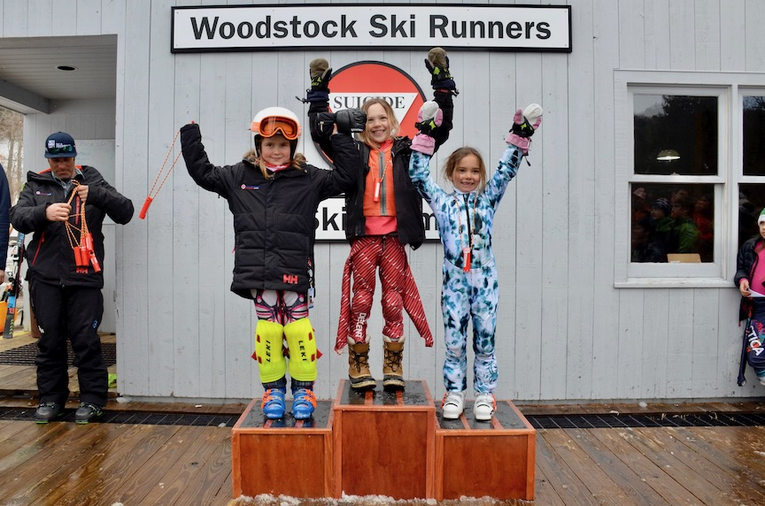 U8 Girls Podium