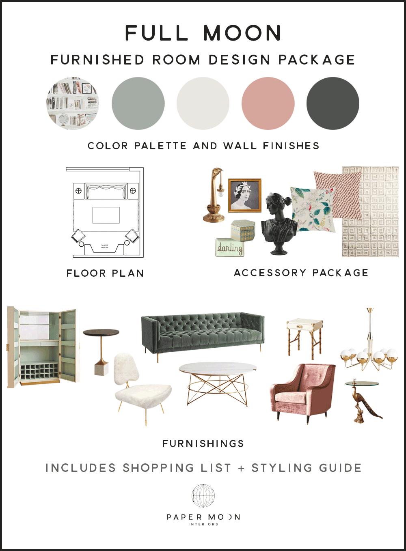 Online Interior Design Services Furniture Package