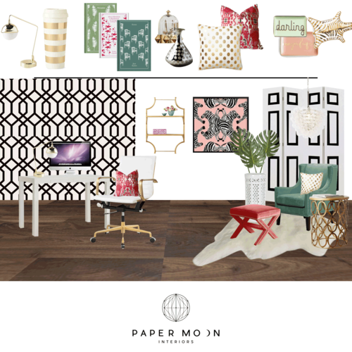 home interior design services. Online Interior Design Services Feminine Preppy Hollywood Regency Pink and  Green Home Office Newport Beach Paper Moon Interiors