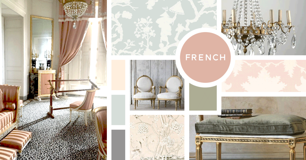 French Interior Design Style |u0026nbsp;Sources From Top Left: Paper Moon  Interiors,