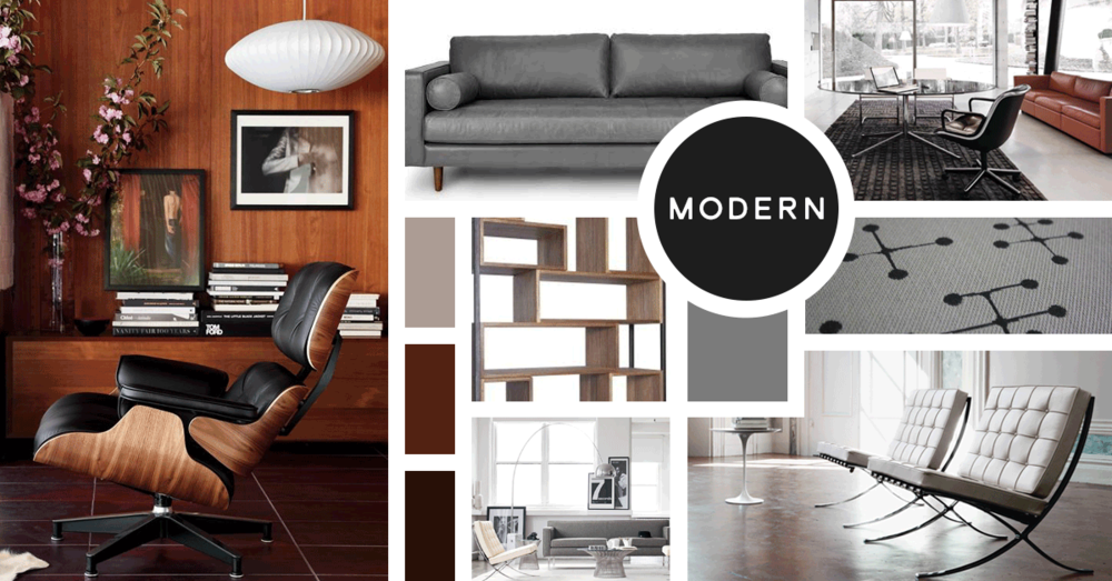 Modern Interior Design Style |u0026nbsp;Sources From Top Left  Design Within  Reach,