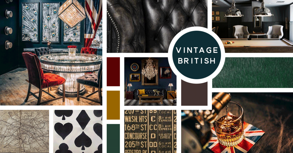 Vintage British Interior Design Style |u0026nbsp;Sources From Top Left: Timothy  Oulton,