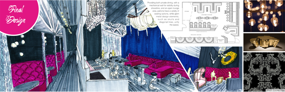 Glam Metal Restaurant Interior Design