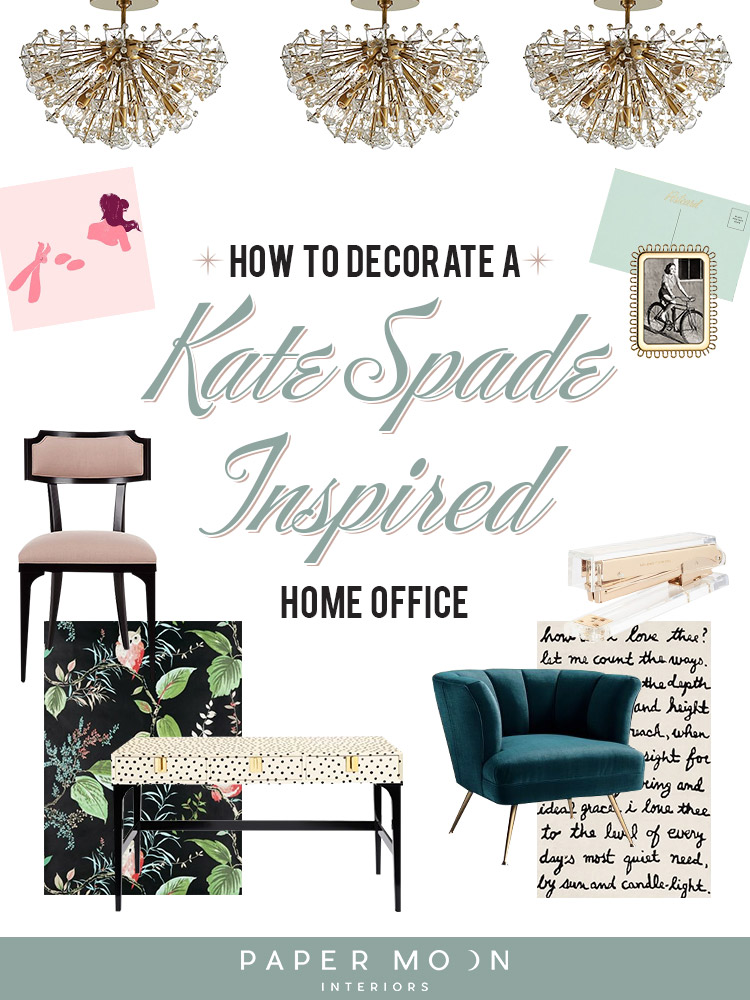 This last week the design world lost one of it's greatest, most inspiring ladies, Kate Spade. I can't remember the last time I was truly shocked and saddened by the death of someone I've never met, and I know many others that were as well. So this week I thought I would pay a tribute to the lady that time and time again, my clients call to as their design muse. Here are six steps you can take to have quick, curious, playful, and strong Kate Spade inspired home office.