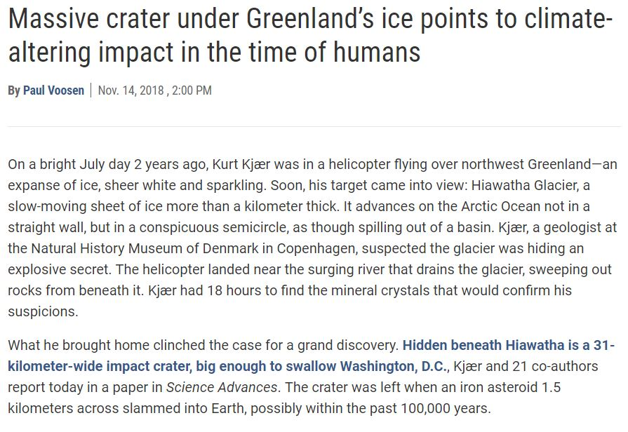 https://www.sciencemag.org/news/2018/11/massive-crater-under-greenland-s-ice-points-climate-altering-impact-time-humans