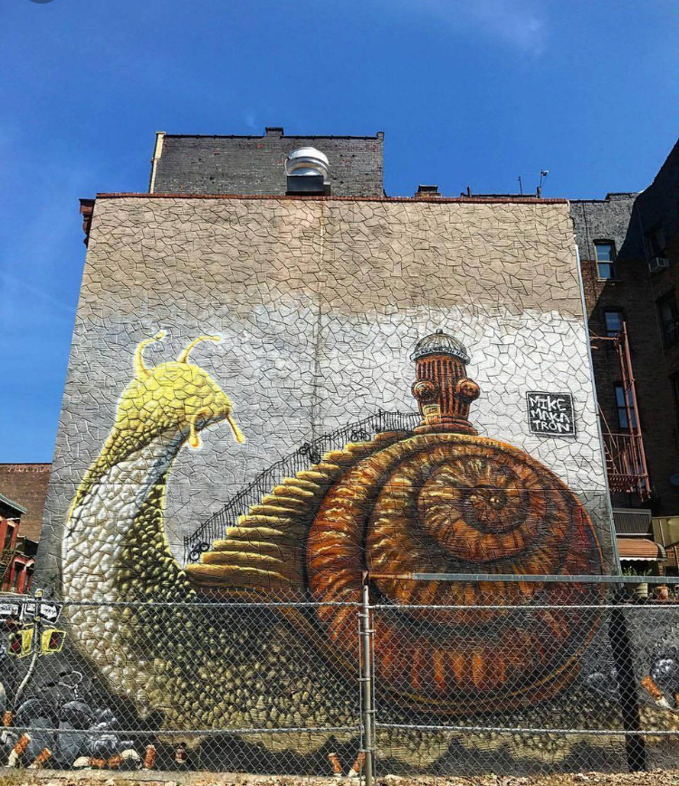 awesome street art in Williamsburg by Mike Makatron