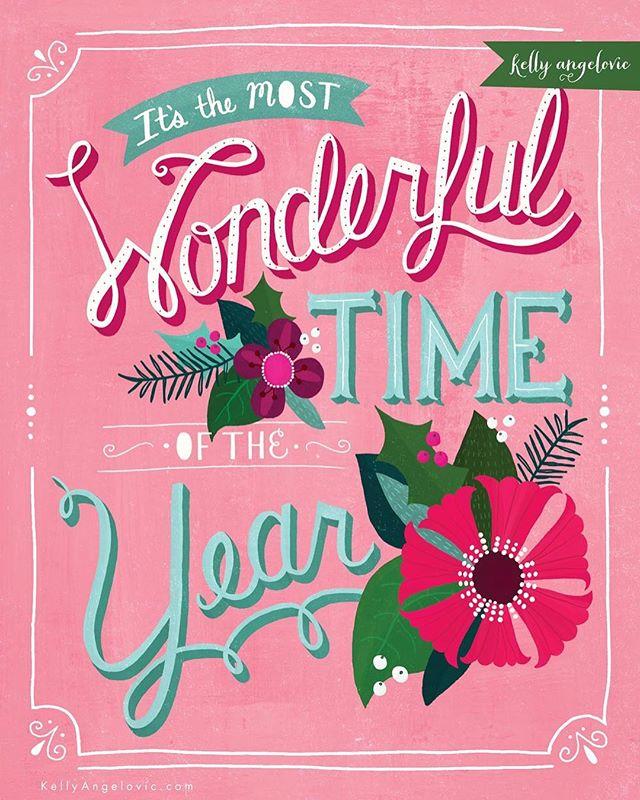 Merry Xmas in July! 🎄 . . . #surfacedesign #christmas #lettering #dreamingofsnow #kellyangelovic #jennifernelsonartists